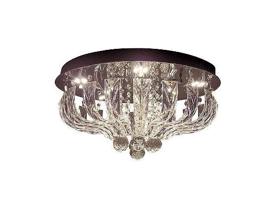 Plafon Sobrepor LED Redondo Cristal Marilyn 45cm 30W 3000K