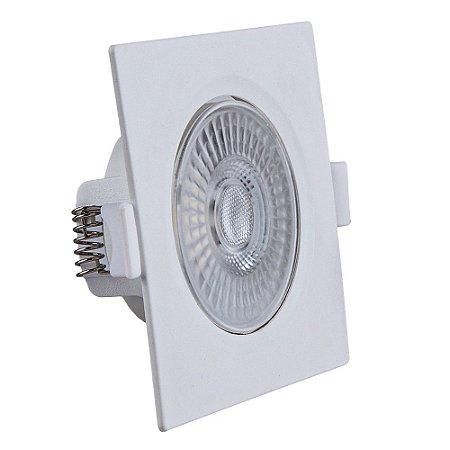 Spot de Embutir LED Quadrado PP 5W 6500K Luminária Teto/Gesso - Startec