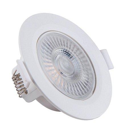Spot de Embutir LED Redondo PP 5W 3000K Luminária Teto/Gesso - Startec