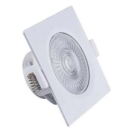 Spot de Embutir LED Quadrado PP 7W 4000K - Startec