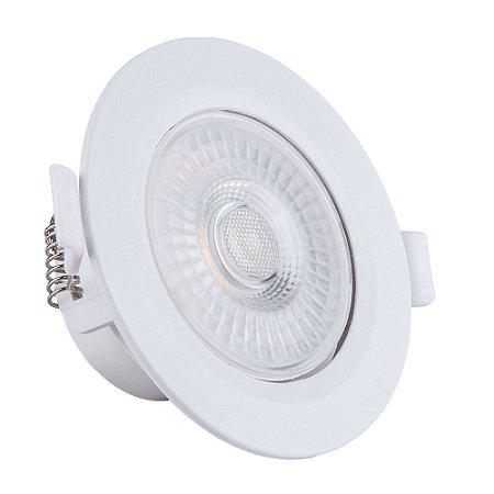 Spot de Embutir LED Redondo PP 7W 3000K  - Startec