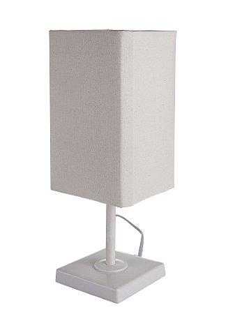 Abajur/Luminária Flick M4 Bege - Design Moderno Quarto/Sala - Startec