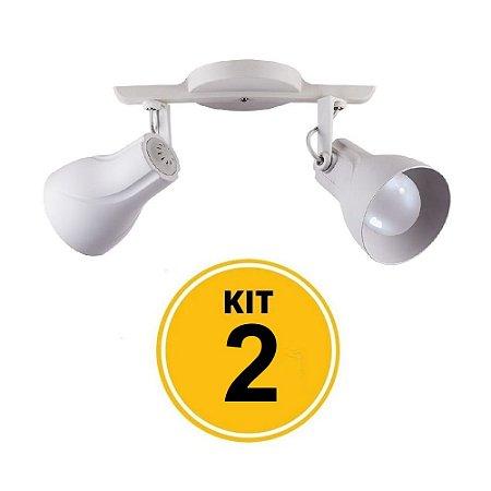 Kit 2 Spot Trilho Octa Plus Branco 2xE27 - Startec