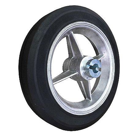 "Roda C/ Bucha Pivo Robô 12"" Novo Modelo - Garen"