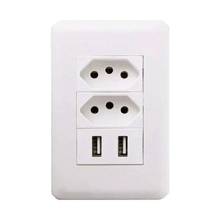 Tomada USB Duo