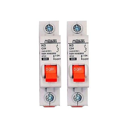 Mini Disjuntor para Portão 4A (Par) - Mkn