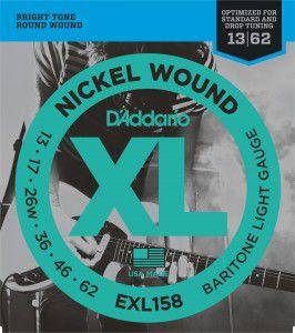 ENCORDOAMENTO D´ADDARIO 013 GUITARRA NICKEL WOUND EXL158
