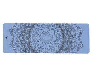 Tapete Suede Mandala Azul Yoga Mat - Yogini