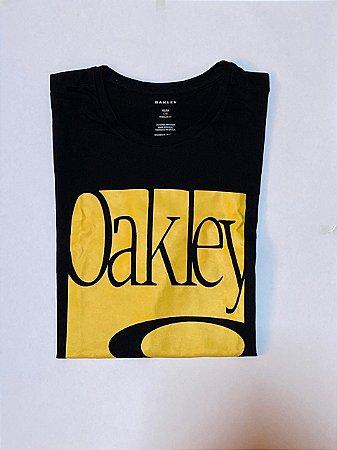 Camiseta Oakley Preta e Amarela