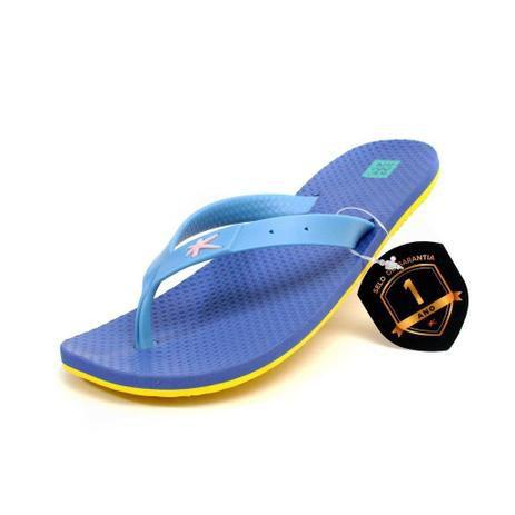 Chinelo Kenner Summer Azul com Amarelo