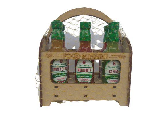 Kit C/ 6 Molhos de Pimenta