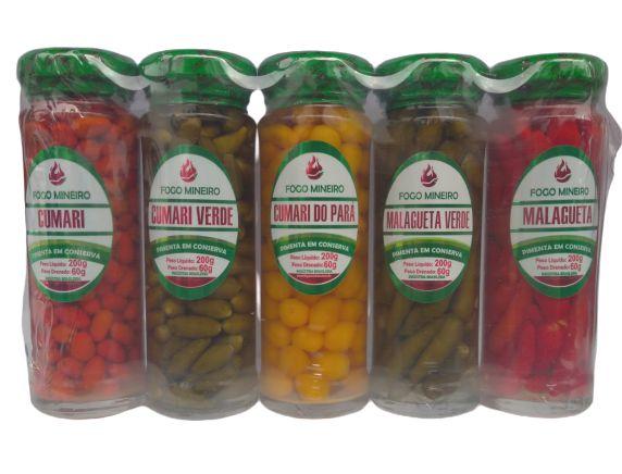 Kit C/ 5 Pimentas em Conserva