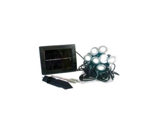 BALIZADOR LED SOLAR KIT PAINEL SOLAR +10 EMBUTIDOS LED 0,6W ACS.007-WW