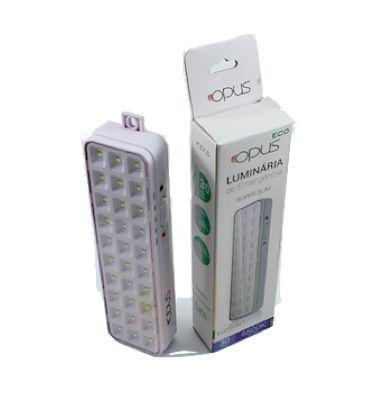 LUMINÁRIA EMERGÊNCIA 30 LED - ECO31811