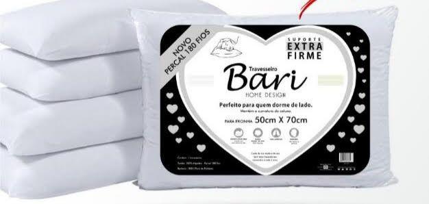 Travesseiro Suporte Extra Firme Percal 180 Fios - Bari