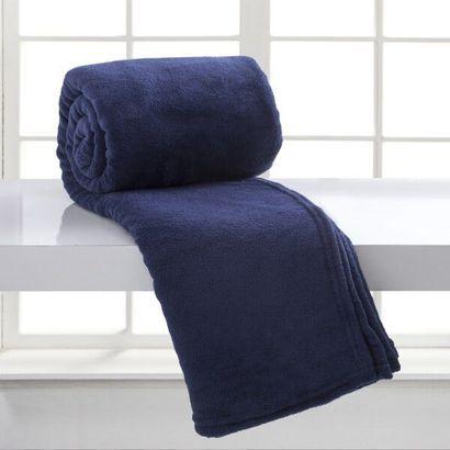 Cobertor Microfibra Casal - Azul Escuro - Bari