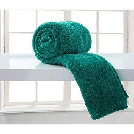 Cobertor Microfibra Casal - Verde - Bari