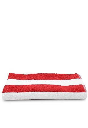 Toalha Gigante para Praia e Piscina Listrada Stripes - Vermelha - Santista