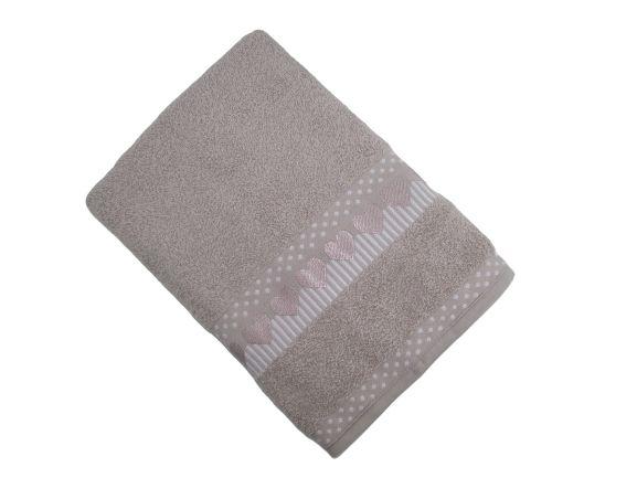 Toalha de Banho Amare - Prata - Olinda Têxtil