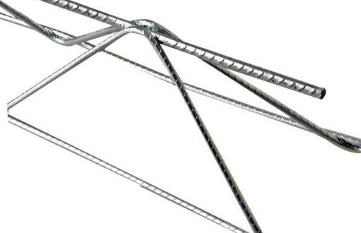 Treliça H16 (Ø 7Mm Superior/Ø 4.2Mm Diagonal/Ø 5Mm Inferior), Altura 16 Cm, Comprimento 12 Metros