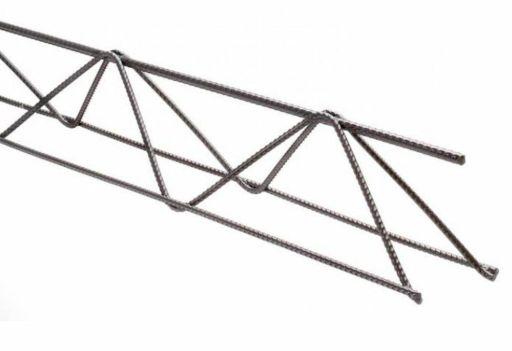 Treliça H08 (Ø 6Mm Superior/Ø 3.4Mm Diagonal/Ø 4.2Mm Inferior), Altura 8 Cm, Comprimento 12 Metros, Leve