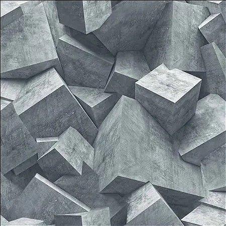 Papel de Parede Hexagone L505-01 - 0,53cm x 10m
