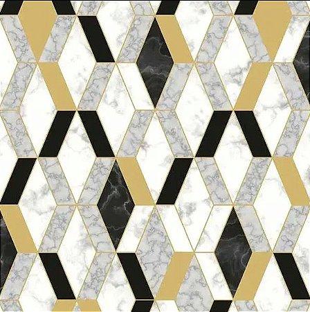 Papel de Parede Hexagone L638-02 - 0,53cm x 10m