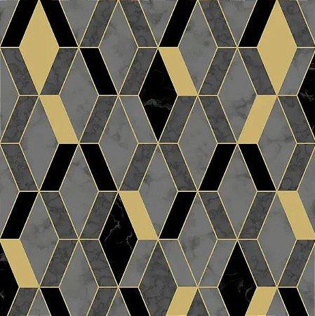 Papel de Parede Hexagone L638-09 - 0,53cm x 10m