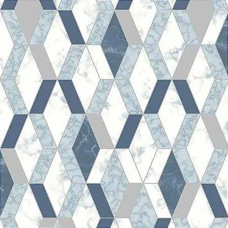 Papel de Parede Hexagone L638-01 - 0,53cm x 10m