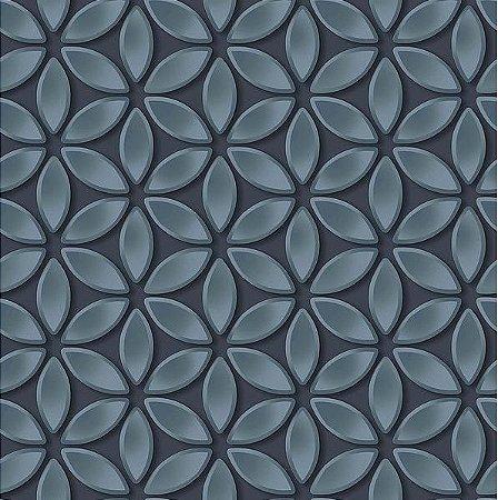 Papel de Parede Hexagone L522-01 - 0,53cm x 10m