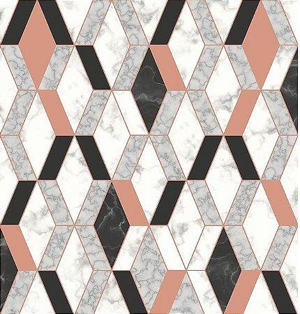 Papel de Parede Hexagone L638-05 - 0,53cm x 10m