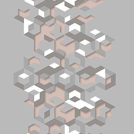 Papel de Parede Hexagone L577-03 - 0,53cm x 10m