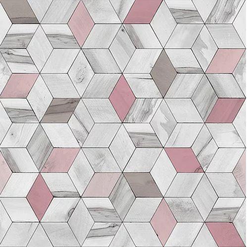 Papel de Parede Hexagone L593-03 - 0,53cm x 10m