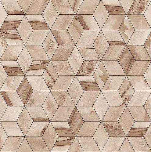 Papel de Parede Hexagone L592-08 - 0,53cm x 10m