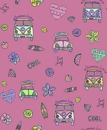 Papel de Parede Pure Kids & Teens KT68436 - 0,53cm x 10m