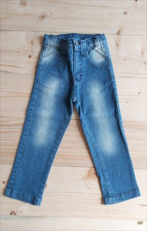 Calça jeans destonado - Lazy 2 anos