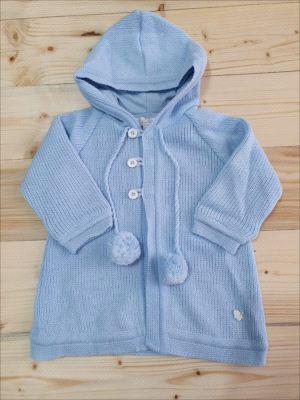 Casaco de lã com capuz novo - Baby Cottons 12 meses
