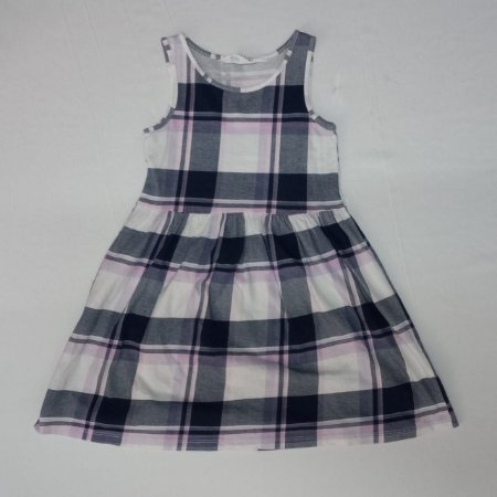 Vestido regata xadrez - H&M 5-6 anos