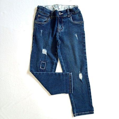 Calça jeans modelo rasgadinho - Carters 5 anos