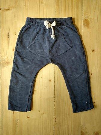 Calça saruel azul marinho cordão branco - Colorittá 3 anos