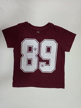 Camiseta manga curta vinho - Pool Kids 12 meses