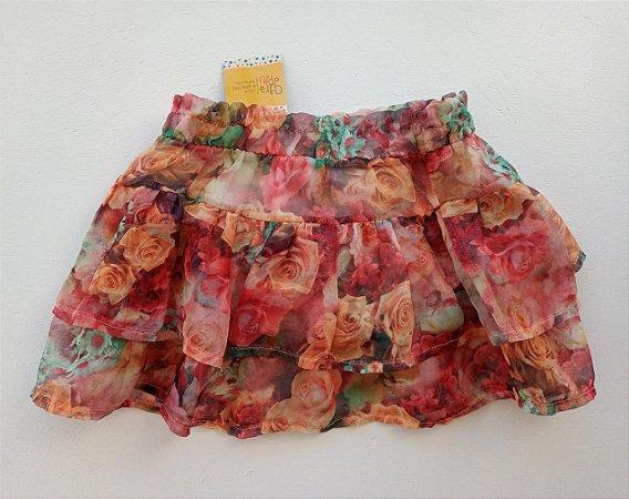 Short saia floral - 5-6 anos