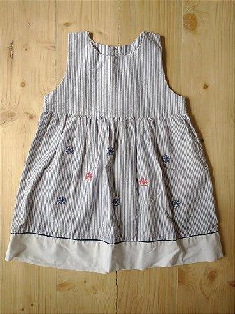 Vestido listrado marinheira - 3 anos