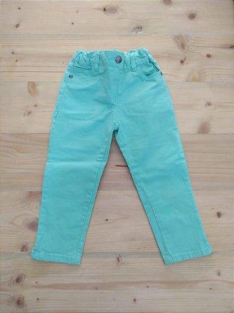 Calça jeans verde - Tex 5-6 anos