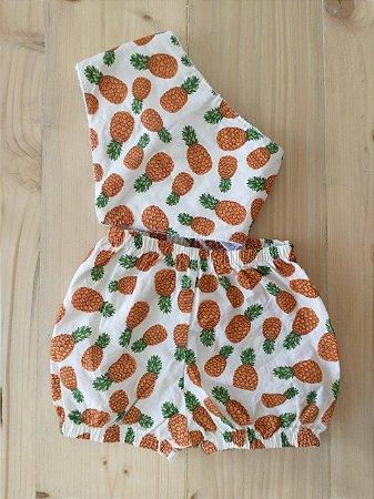 Conjunto shorts + babador bandana - Labibó 0-3 meses