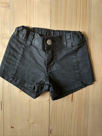 Shorts jeans preto - Baby Way 18-24 meses