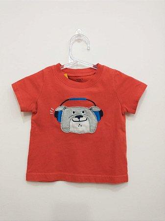Camiseta manga curta - Carter's 6 meses