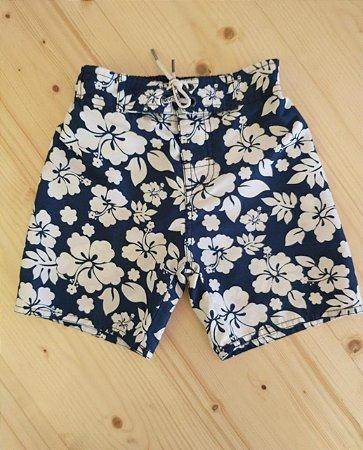 Shorts tactel floral - Baby Club 18-24 meses