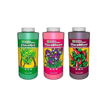 Kit Floraseries - Grow + Micro + Bloom 473ml - General Hydroponics