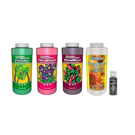 Kit Floraseries 3x473ml + FloraLicious Plus 473ml + Rapid Start 30ml - General Hydroponics